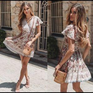 Dresses & Skirts - NWT! Cream Floral Paisley Boho Wrap Dresses